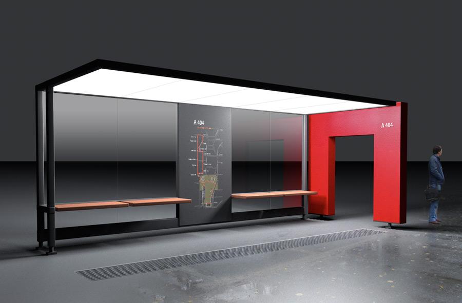 Дизайн остановка